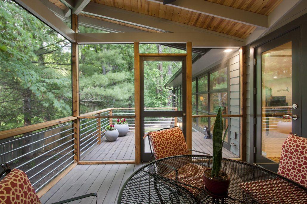 North Asheville Ranch porch enclosure outdoor living