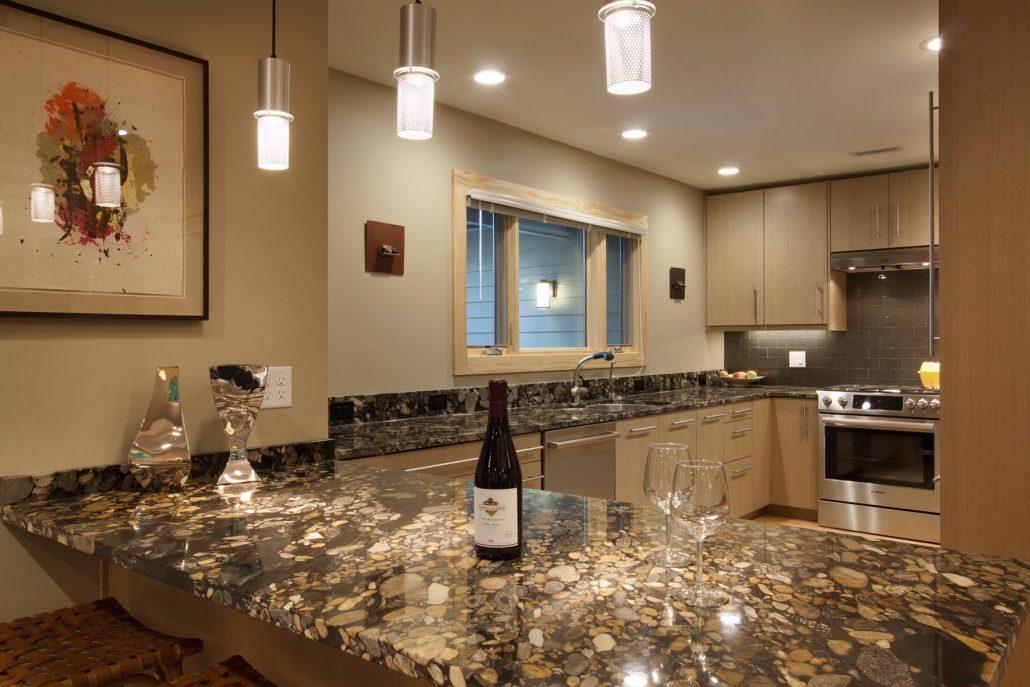 North Asheville kitchen remodel counter breakfast bar